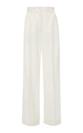 Wool-Blend Wide-Leg Trousers By Dolce & Gabbana | Moda Operandi