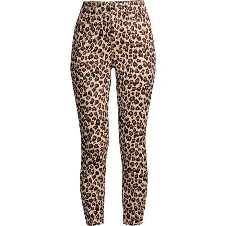 Sofia Jeans by Sofia Vergara - Sofia Jeans Rosa Curvy High Waist Ankle Jean Women's (Neutral Leopard) - Walmart.com brown