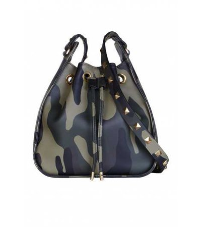The Ziggy Studded Drawstring Bag - Collection