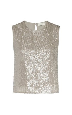 Sequined Cropped Tank Top By Lapointe   Moda Operandi