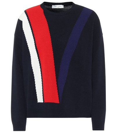 Wool and cashmere navy sweater
