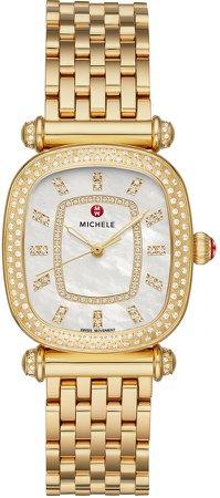 Caber Isle Diamond Dial Diamond Watch Head & Bracelet, 32mm