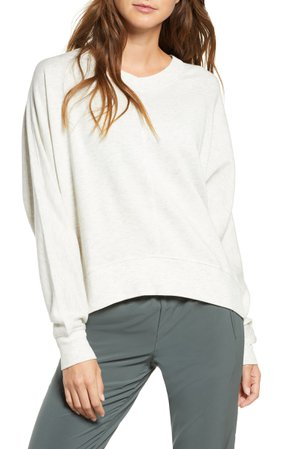 Zella Carey Crew High/Low Sweatshirt | Nordstrom
