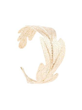Karen Walker Oak Leaf Bracelet KW3499Y Gold   Farfetch
