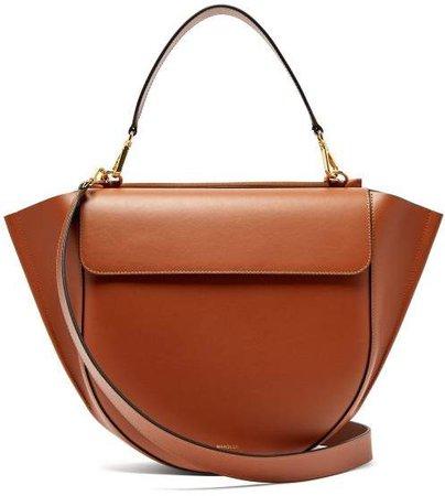 Hortensia Large Leather Shoulder Bag - Womens - Tan