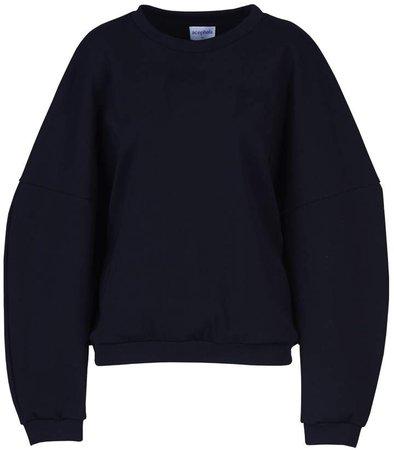 Acephala - Black Oversize Sweatshirt