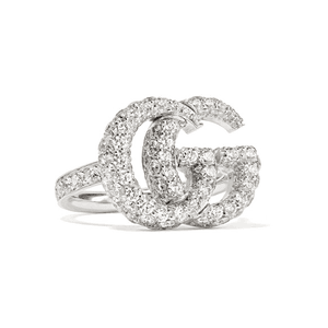 Gucci | 18-karat white gold diamond ring | NET-A-PORTER.COM