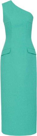 Emilia Wickstead Milena Cold-Shoulder Cady Dress