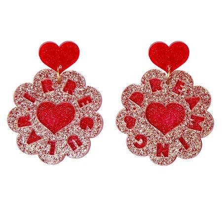 Jammie Dodger Earrings - Womens | Irregular Choice