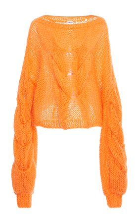 Cable Mohair-Blend Sweater by Loewe   Moda Operandi