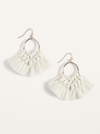 Braided Tassel Drop Earrings for Women | Old Navy