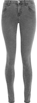 Glittered Coated High-rise Skinny Jeans