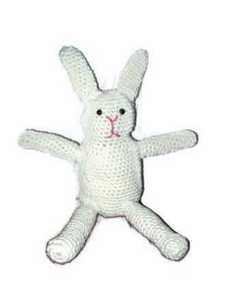 Bunny Rabbit Off White Amigurumi Rabbit Easter Bunny Crochet