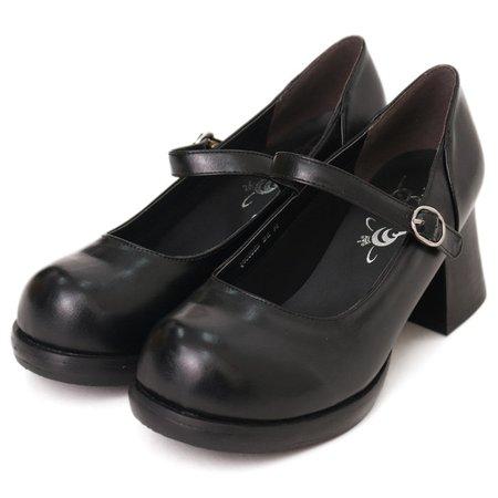 qb0006B One Strap Round Toe Pumps | Queen Bee | Shoes | m-00334 | Wunderwelt Fleur - Online Boutique for Gothic & Lolita Fashion