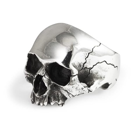 Silver Skull Ring (Y) | Frederick Grove | Wolf & Badger