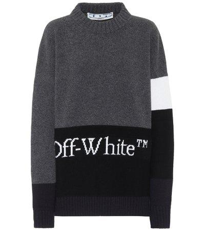 Off-White - Virgin wool sweater   Mytheresa