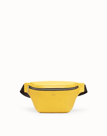 FENDI Belt Bag Yellow leather belt bag