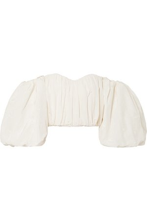 Ellery | Lady Chatterley off-the-shoulder cotton-blend moire top | NET-A-PORTER.COM