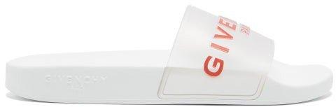 Logo-embossed Rubber Slides - Clear