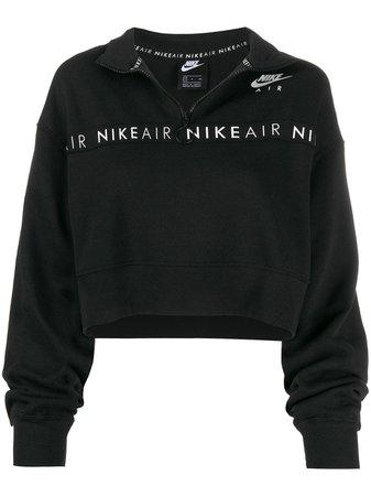 Nike Cropped funnel-neck Sweatshirt - Farfetch