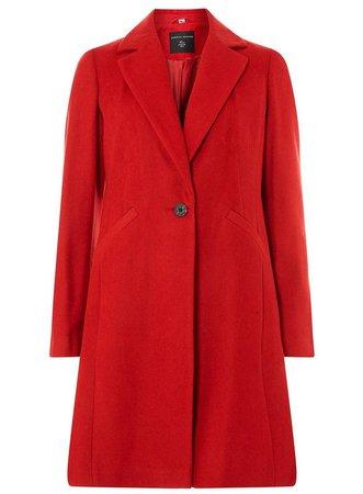 Red Single Breasted Coat - Jackets & Coats - Clothing - Dorothy Perkins United States