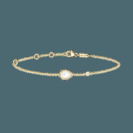 Boucheron, SERPENT BOHÈME BRACELET XS MOTIF Bracelet set with white mother-of-pearl, in yellow gold