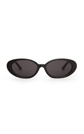 The Poet Round-Frame Acetate Sunglasses by Velvet Canyon | Moda Operandi