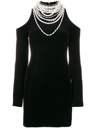 Balmain Real Embellished Mini Dress   Farfetch.com