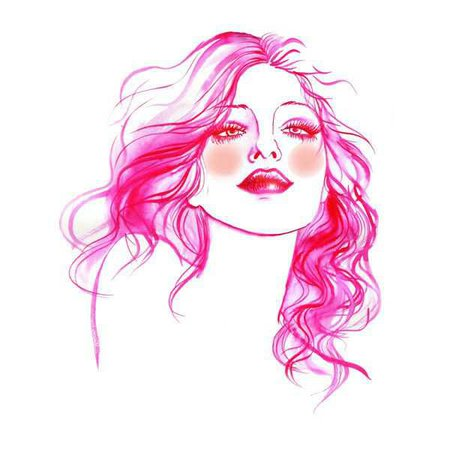 hot pink drawings - Google Search