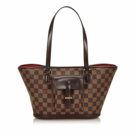 Buy Pre-owned & Brand new Luxury Louis Vuitton Damier Ebene Manosque PM Online | Luxepolis.Com