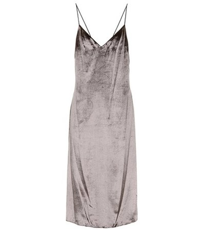 Parker sleeveless velvet dress