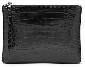 Vegan Leather Medium Zip Pouch