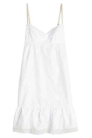 Cotton Dress with Pleated Chiffon Trim Gr. US 8