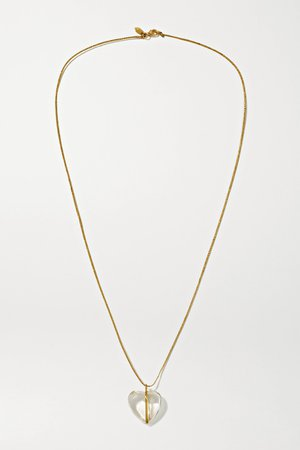 Gold 18-karat gold, cord and crystal necklace | Pippa Small | NET-A-PORTER