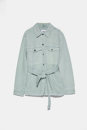 BELTED DENIM JACKET | ZARA United States