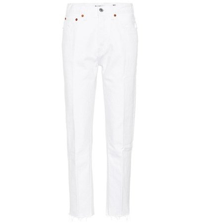 Stovepipe high-waisted jeans