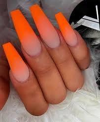 orange ombré nails - Google Search