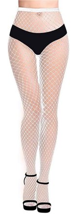 white fishnets tights