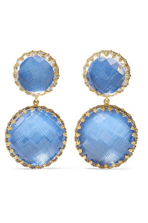 Larkspur & Hawk | Olivia large gold-dipped quartz earrings | NET-A-PORTER.COM