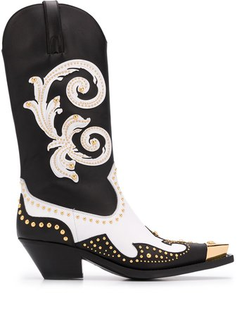 Versace Medusa Western Boots - Farfetch