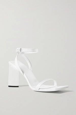 Moon Leather Sandals - White