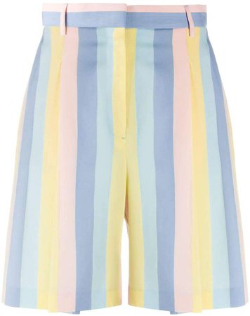 Striped Knee-Length Shorts