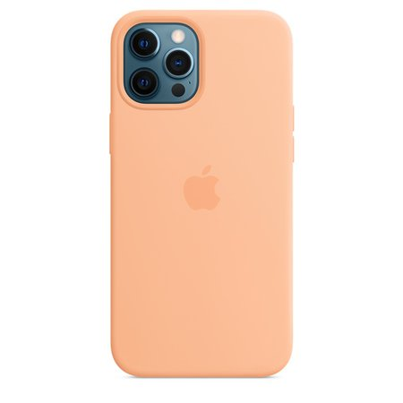 Coque en silicone avec MagSafe pour iPhone12 Pro Max - Melon - Apple (FR)