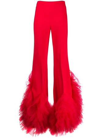 Loulou High-Rise Flared Ruffled Tulle Trousers Ss20 | Farfetch.Com