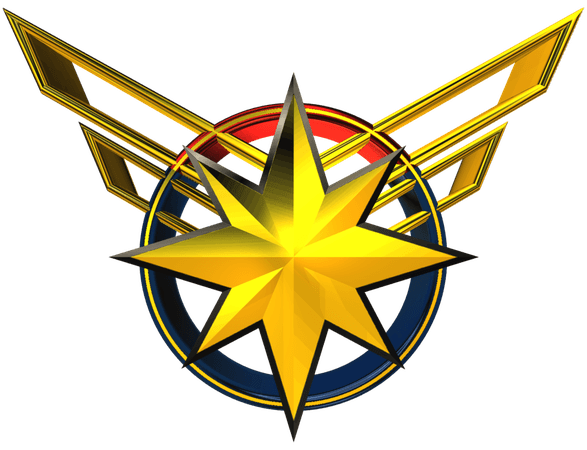 Carol Danvers Captain Marvel Logo T Shirt Ms. Marvel Marvel Comics - makeover banner 1021*783 transprent Png Free Download - Yellow, Symmetry, Star.
