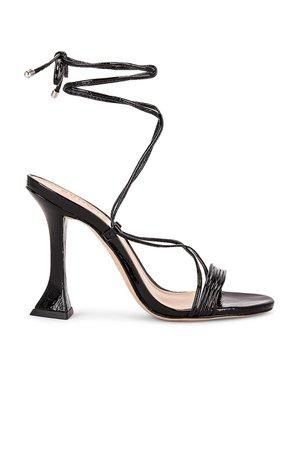 Schutz Arceli Sandal in Black   REVOLVE