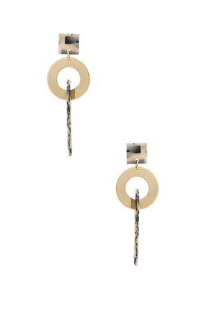 Geometric Chain Earring