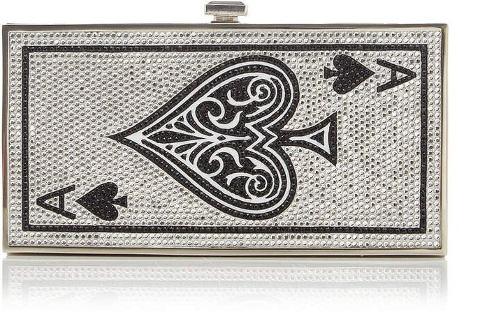 Judith Leiber Couture Ace Of Spades Crystal Clutch