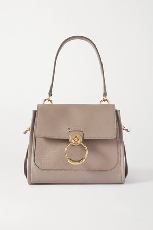 Tess Day Small Smooth And Textured-leather Shoulder Bag - Gray