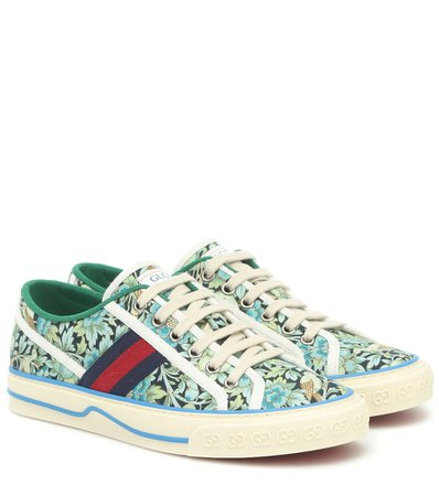 Sneakers Gucci Tennis 1977 In Canvas Liberty   Gucci - Mytheresa